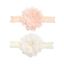 Newborn Headwear Baby Girl Flower Headbands Lace Hair Bands Princess Accessories Party Headband