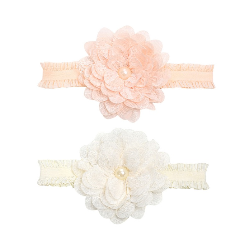 Newborn   Headwear   Baby Girl Flower Headbands Lace Hair Bands Girl Flower Princess Hair Accessories Party Headband