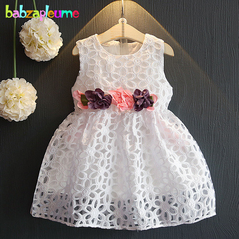 0-7Years/Summer Toddler Girls Princess Dresses Kids Clothes Baby Flower Hollow Tutu Dress Wedding Party Children Clothing BC1353 стоимость