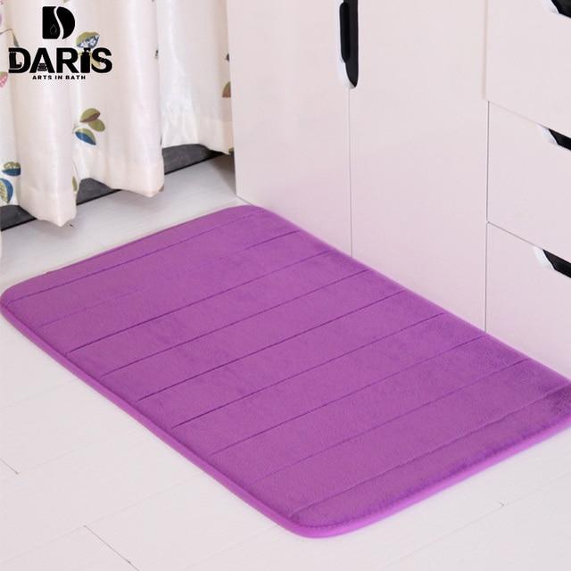 SDARISB Docbear Memory Foam Coral Velvet Non Slip Bathroom Magnificent 40x60 50x80 60x90 Inch Fleece Bath Mat High Absorbency