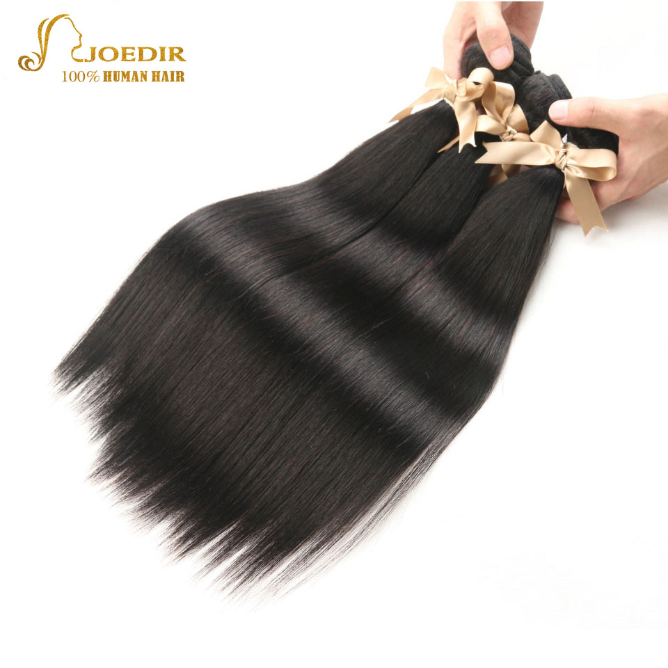 Joedir 3 PCS Malaysian Straight Hair Bundles Unprocessed Virgin Human Hair Extension Natural Color Weave 8- 30 inch Free Ship