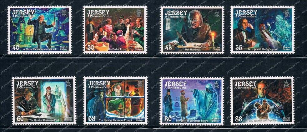 GB0380 Jersey De Noël 2012 Dickens littéraire fonctionne dans 8 nouveaux timbres 0405 dans Timbres de Bureau et des Fournitures Scolaires