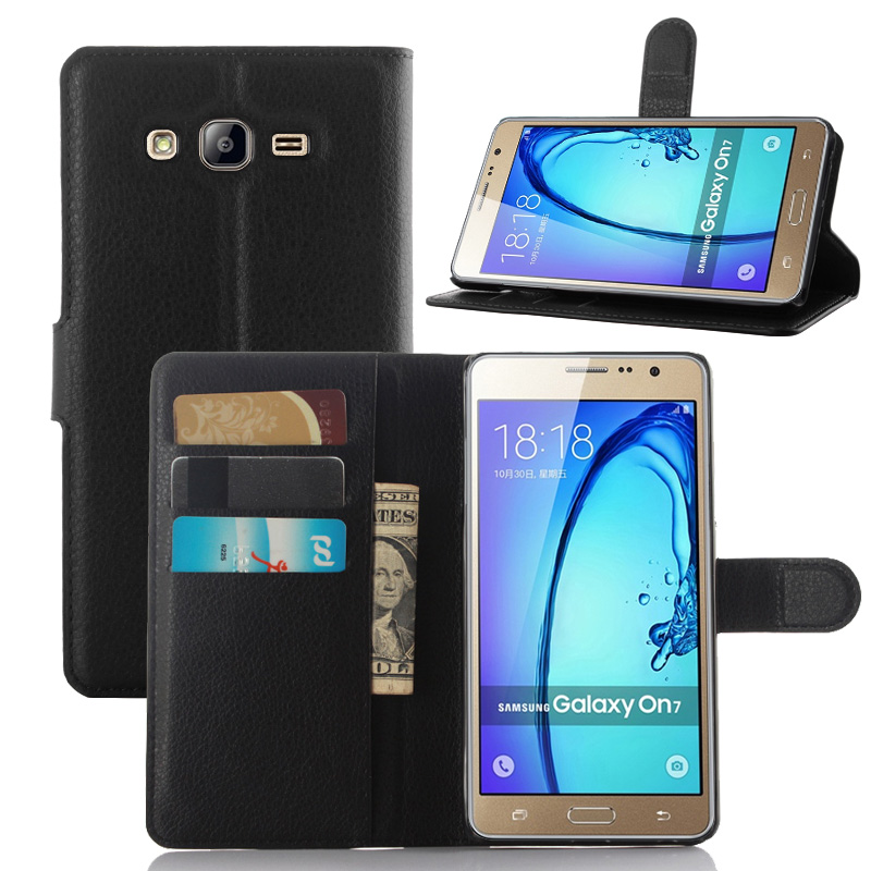 hot sale online fa671 d585b US $3.36 20% OFF|For Samsung Galaxy On7 Pro Case Luxury PU Leather Back  Cover Case For Samsung Galaxy On7 Pro Case Flip Protective Phone Bag  Skin-in ...