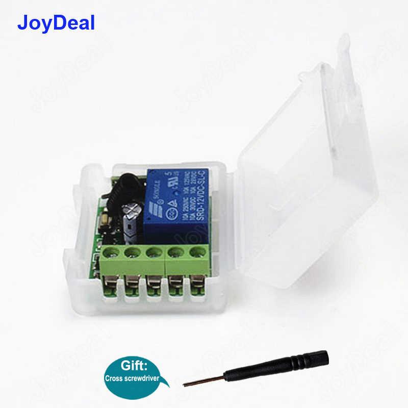 Joydeal 433 MHz inalámbrico RF DC 12V 1CH Control remoto interruptor módulo receptor y transmisor RF coche cerradura electrónica control de la puerta
