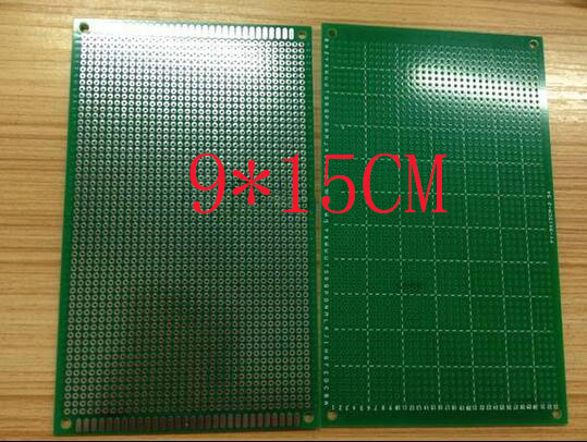 free shipping 30pc 9*15CM single sided Board HASL 1.6mm 2.54 pitch high-quality glass fiber universal plate test board ...