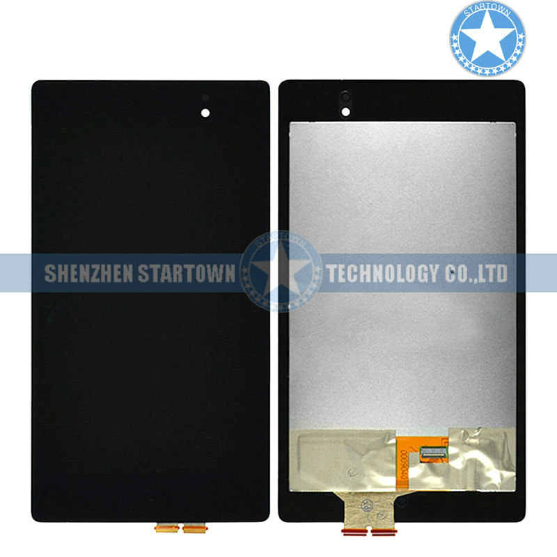 Black LCD Display Front Lens Glass Touch Screen Digitizer Assembly for Asus Google Nexus 7 II 2nd