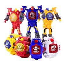 Часы трансформер детские наручные игрушки трансформеры Мультяшные