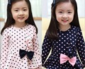 Anlencool New Coat Regular Cotton Korean Models Girls Dot Bow -old Girl Child Kit Factory Direct Baby Clthes Set Free Shipping