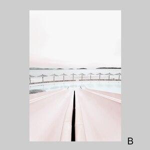 Image 5 - 핑크 포스터 빈티지 북유럽 포스터와 인쇄 굴뚝 벽 아트 캔버스 회화 거실 장식 Unframed
