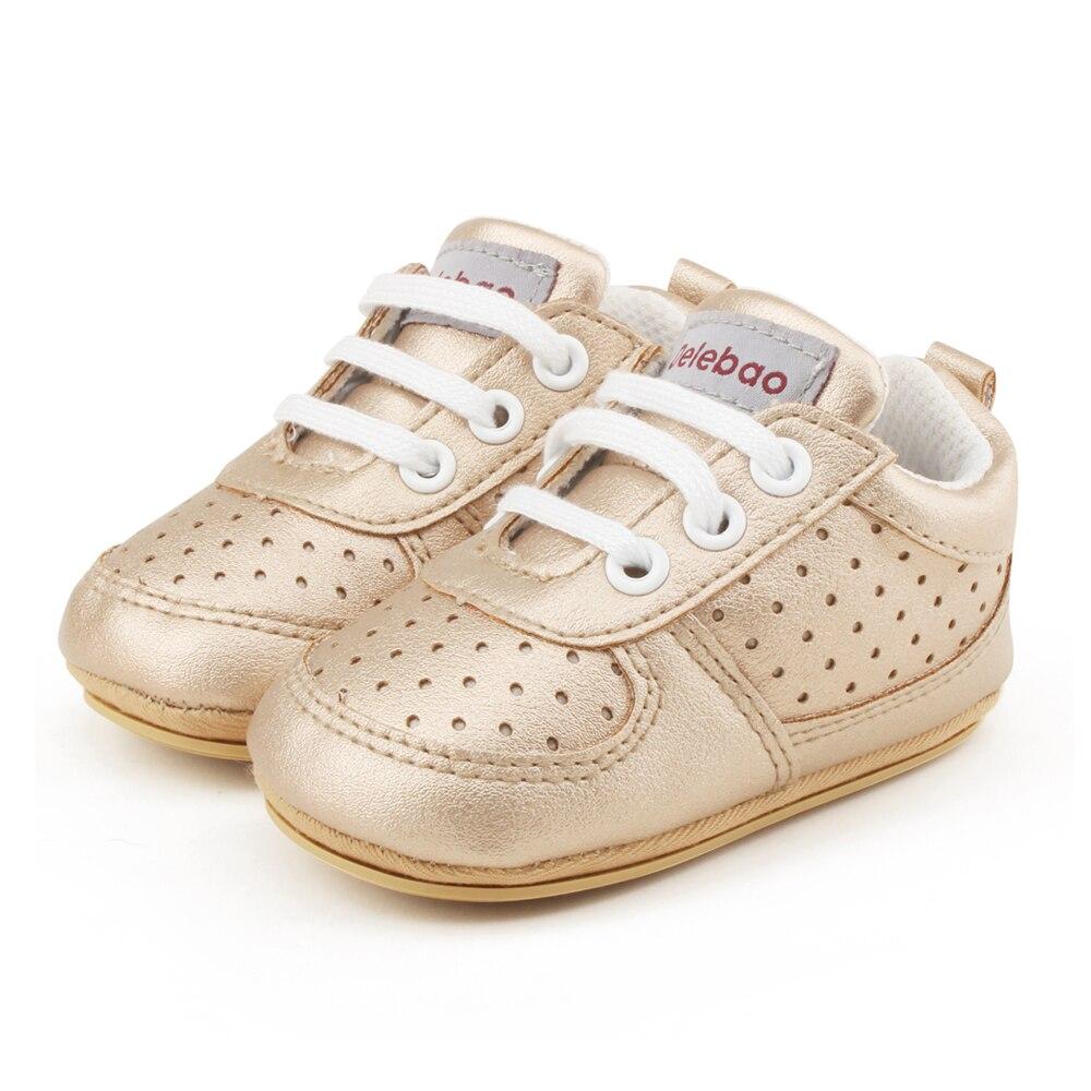 Delebao rubberen zolen voor een peuter schoenveter baby schoenen - Baby schoentjes - Foto 5