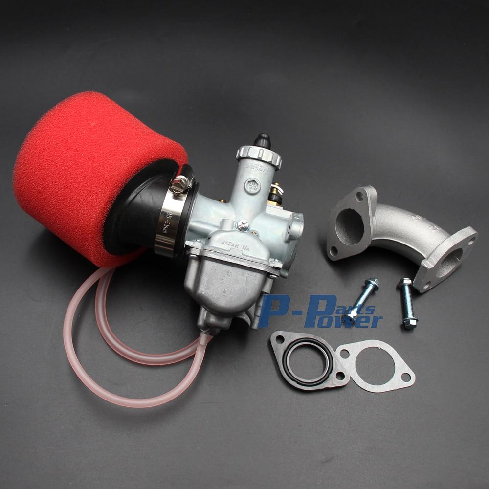 vm22 mikuni carburetor carb carby 26mm air filter intake pipe gasket assembly for honda xr100 crf100 klx110 pit bike carburetor [ 1000 x 1000 Pixel ]