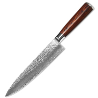XYJ Brand Kitchen Knife VG10 Damascus Steel Knife 8 Inch Chef Knife Slip Resistant Handle Sharp