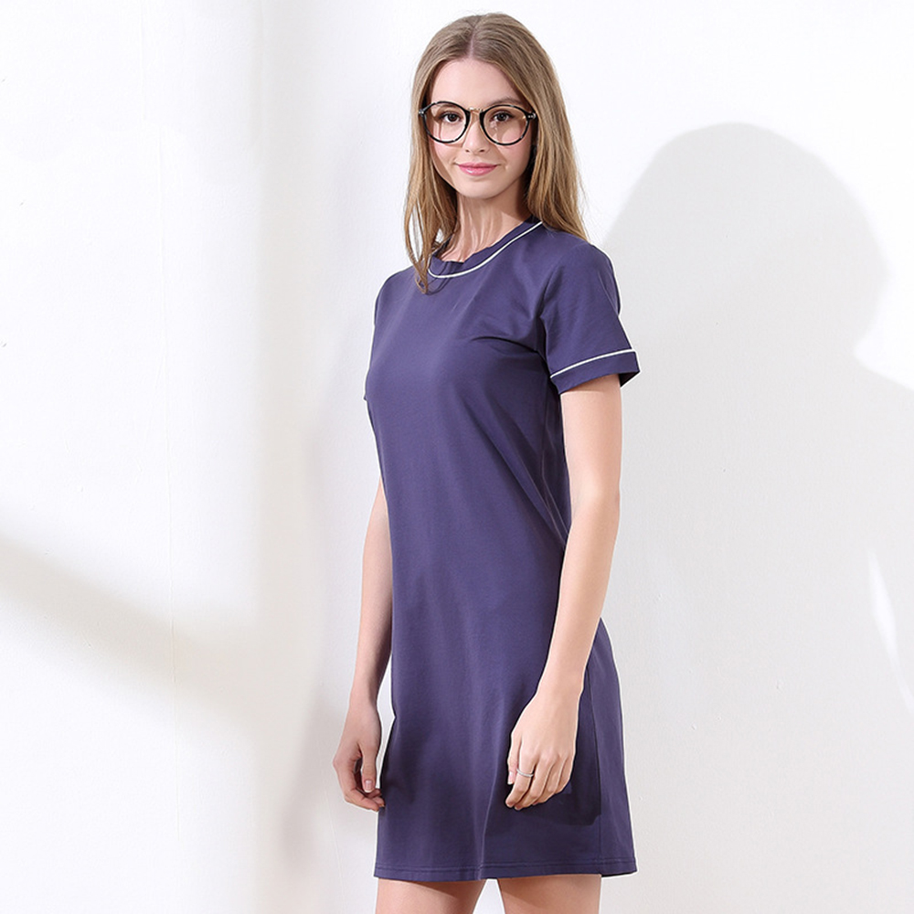Nightgowns   &   Sleepshirts   2019 rushed Cotton   nightgowns   elegant women short-sleeved sexy lingerie nightskirt Sleepwear vestido