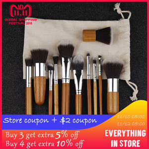 f53d4fb977fa1 11 6 pcs Natural Bamboo Makeup Brushes with Bag Professional Cosmetics  Eyeliner