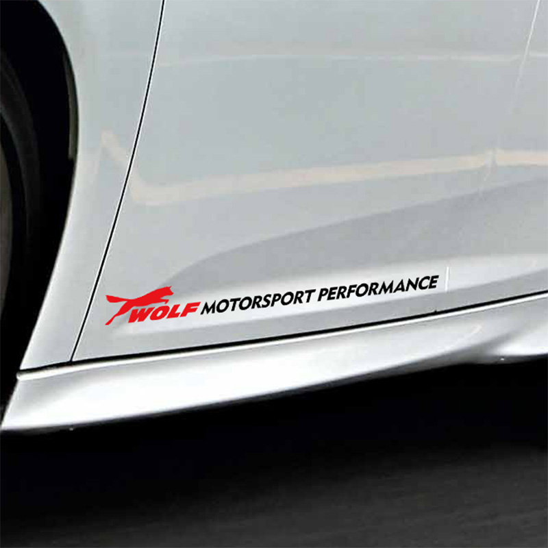 1 Pair Customization Wolf MOTORSPORT PERFORMANCE Car Door sticker For FORD FOCUS 2 focus 3 Mondeo Fiesta Kuga MK2 MK3