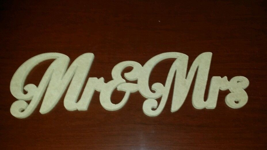 free shipping RAW Mr and Mrs FREESTANDING sign wedding decoratio MR&MRS n M letters