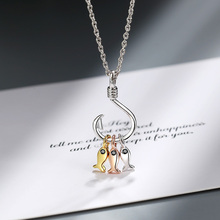 New Exquisite Silver Necklace for Women Cute Three Fish & Hook Pendant Necklaces Fashion Short Clavicle Chain Jewelry F34