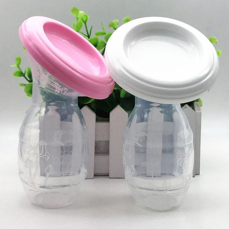 Women Mom Breast-feeding Pump Baby Feeding Milk Saver Collector Bottle Silicone