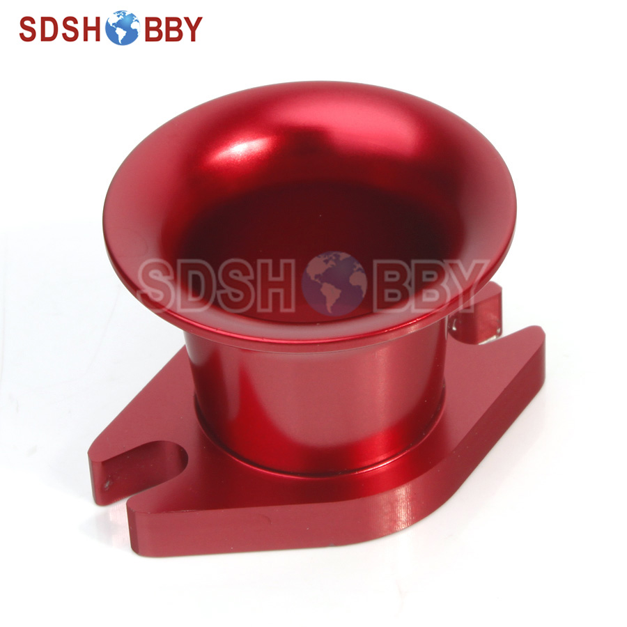 6STARHOBBY CNC Aluminum Alloy Air Horn Inlet for DLE30/ DLE50/ DLE55/ Zenoah G80 and CRRC Gas Engine 6starhobby propeller drill jig drill guide with screw for dle30 dle55 gasoline engines