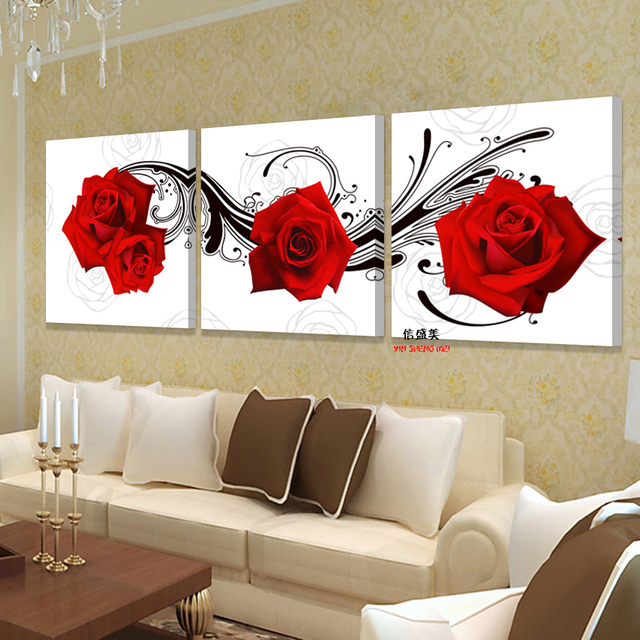 Picture Oil Painting Roses Flower Living Room Bedroom Home Decoration Wall Paintings  Art Pictures For Print Part 54