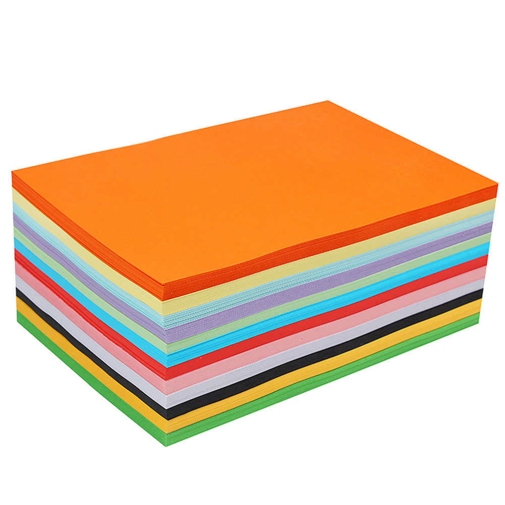 Coloured Paper Card 100pcs 160gsm A4 Crafts Student Office School Supplies Handwork Making Craft Stationery Scrapbooking