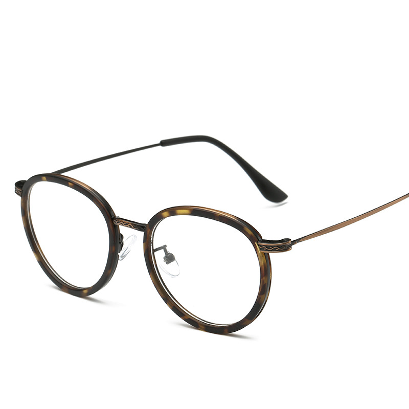 SOLO TU Fashion Trend TR90 Round Eyewear Frame Light Cosy Men Women ...