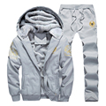New Man's Sweatshirt Casual Soft Thick tracksuit for Men Hoodies Warm autumn winter Hoodie 2pcs set sportsuit man brand clothing