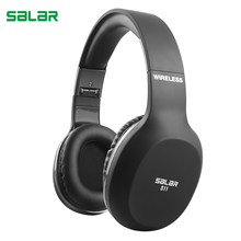Salar S11 Wireless Headphones Bluetooth Headset Foldable Headphone Adjustable Earphones With Microphone For PC mobile phone mp3(China)