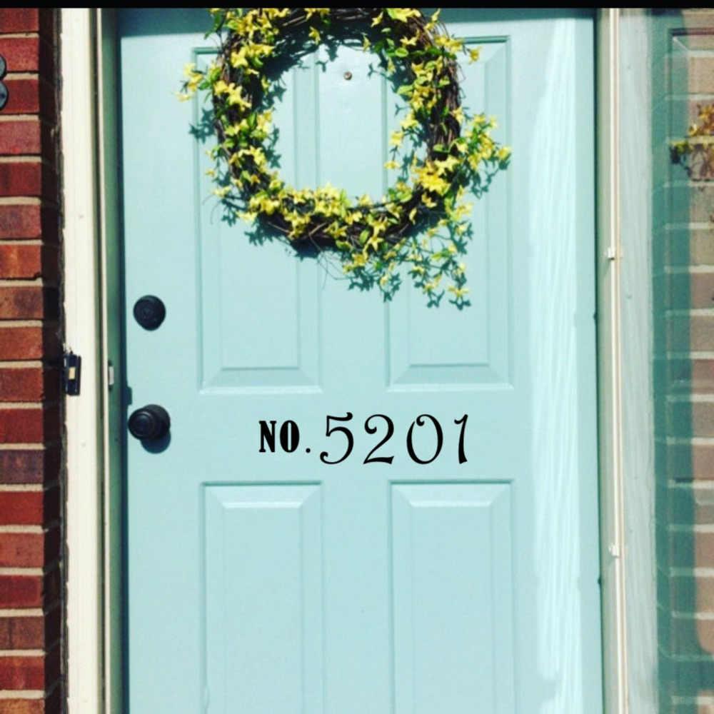 33705ebe388c Detail Feedback Questions about Custom Door Numbers Vinyl Front Door ...
