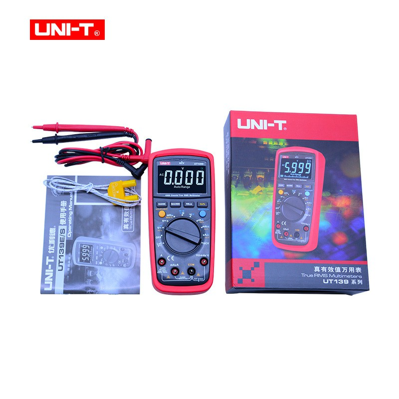UNI-T UT139S True RMS Digital Multimeter LPF low pass filter LoZ low impedance input +temperature test EBTN display function цены онлайн