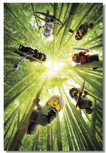 US $5 51 31% OFF|Aliexpress com : Buy Custom Canvas Wall Mural The Lego  Ninjago Movie Poster Video Game Wall Stickers Lloyd Jay Wallpaper Cafe Bar