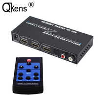HDMI Switch 3x1 Audio Extractor 3 input 1 output + SPIDF L/R output Switcher HDMI1.4 4Kx2K 3D IR ARC 7.1CH For PS4 TV XBox Computer PC DVD Player Amplifier HDTV Monitor