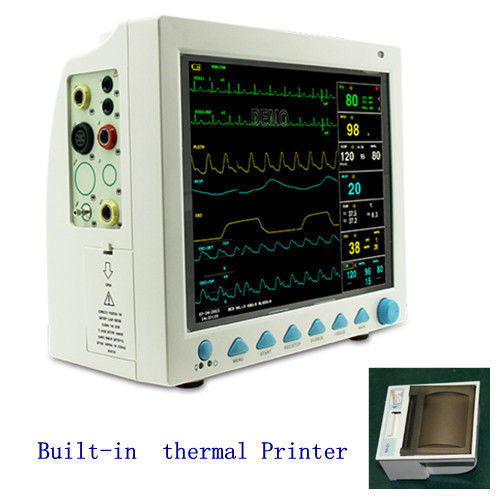 CE FDA Vital Sign ICU patient monitor CMS8000+Printer,NIBP SPO2 ECG TEMP RESP PR gpyoja 2016 hot selling multi parameter ecg nibp spo2 pr temp resp tablet patient monitor
