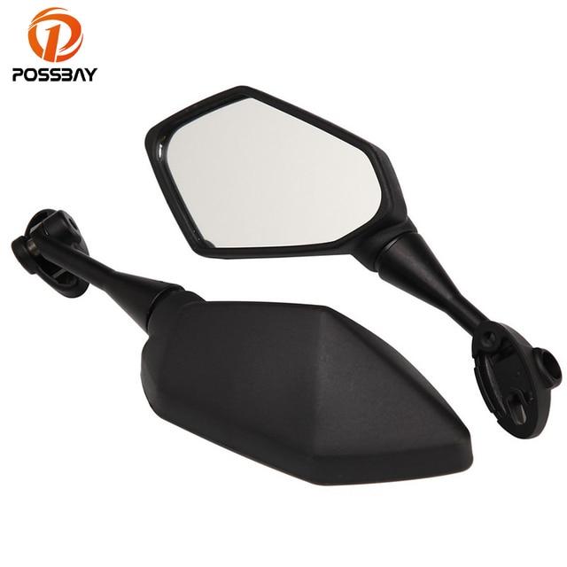 Possbay Black Motorcycle Rearview Mirror For Kawasaki Z1000