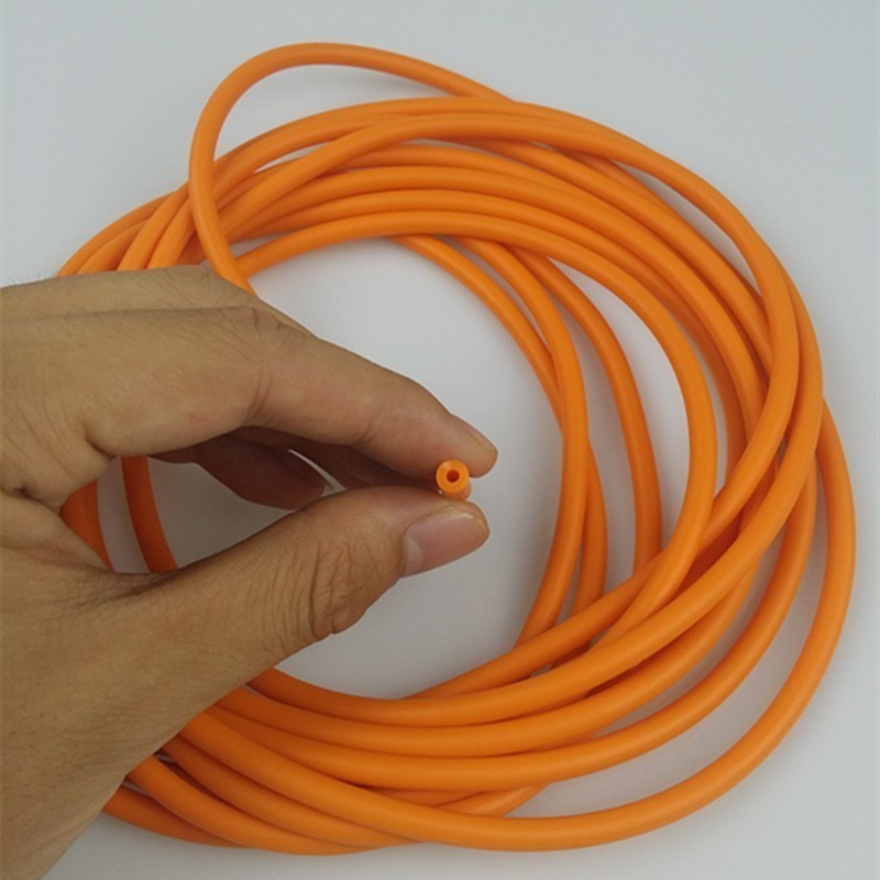 Natural Latex Slingshots Rubber <font><b>Tube</b></font> 0.5/1/2/3/<font><b>4</b></font>/5M for Hunting Shooting 2mmX5mm Diameter High Elastic Tubing Band Accessories image