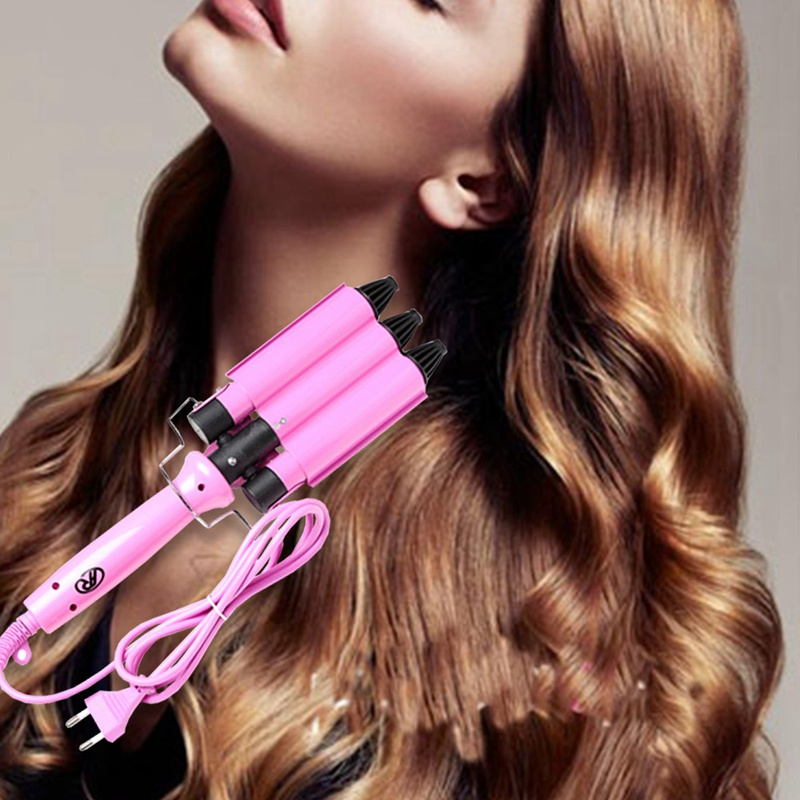High Quality Pro 110-220V Hair Curling Iron Ceramic Triple Barrel Hair Curler Hair Waver Styling Tools Hair Styler