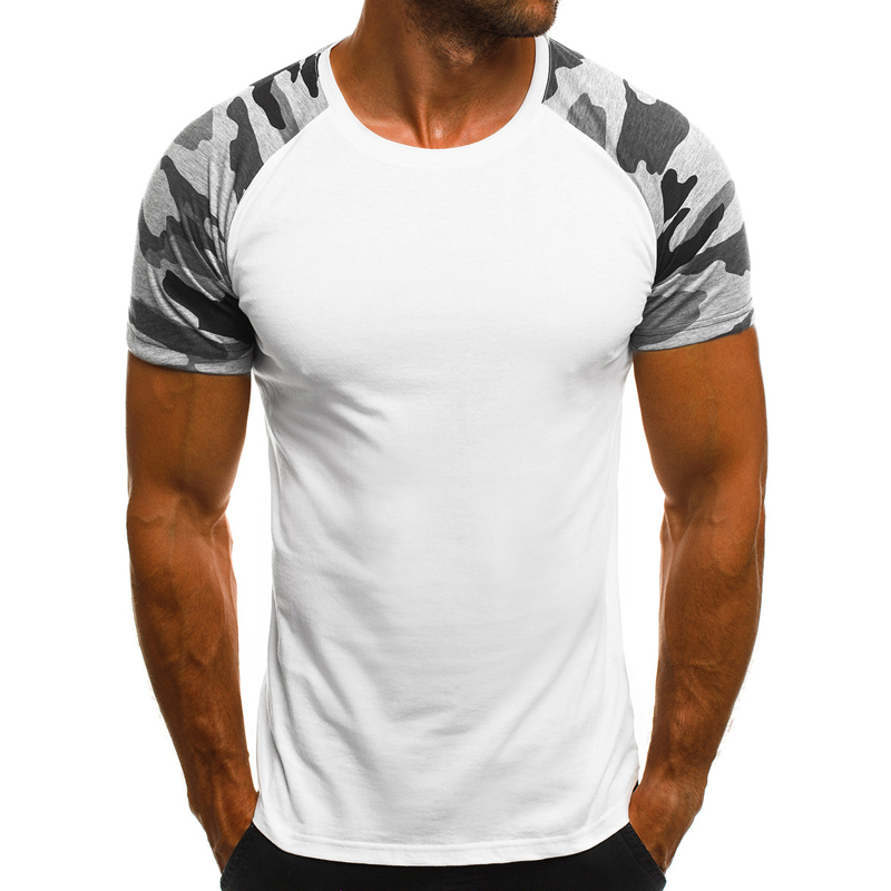 2019 New Casual Camouflage Print Men T Shirt Summer Short Sleeve Man T-shirts Bodybuilding Slim Thin Male Tees Dropshipping
