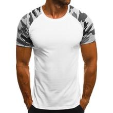 d81e7429 2019 New Casual Camouflage Print Men T Shirt Summer Short Sleeve Man T-shirts  Bodybuilding Slim Thin Male Tees Dropshipping