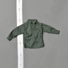 1/6 Men's Clothes Model Deep Green Shirt Model for 12'' Male Action Figures Bodies DIY Accessories Toys Gifts