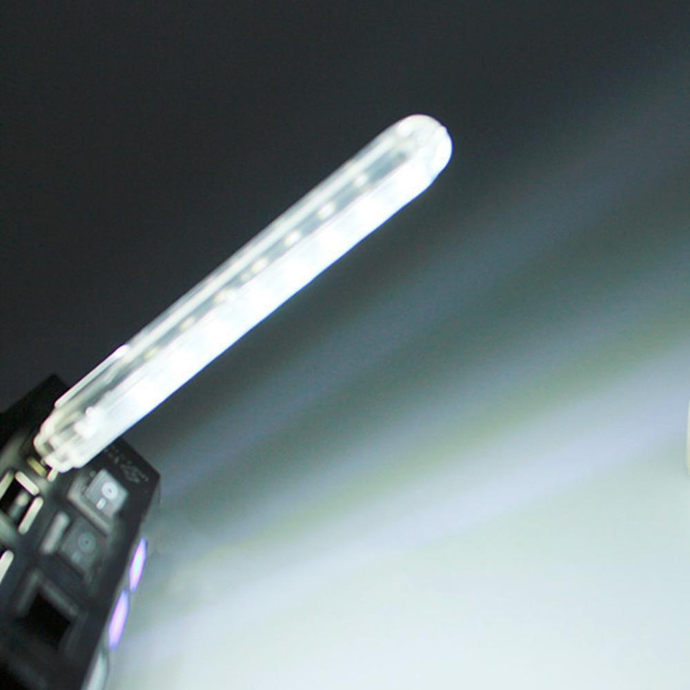 Mini Book Lights USB 8 LED Night Light Portable White Lamp 5V For PC Laptops Notebook Computer Mobile Power Camping Lamp
