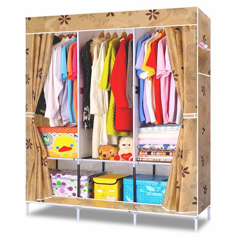 DIY Simple Clothes Wardrobe Combination Non woven Fabric Large ...