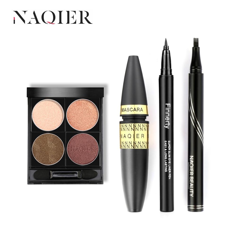 Eyes Makeup set naked Eyeshadow pallete liquid eyeliner Pen microblading eyebrow tattoo pencil rimel 4d mascara make up kit
