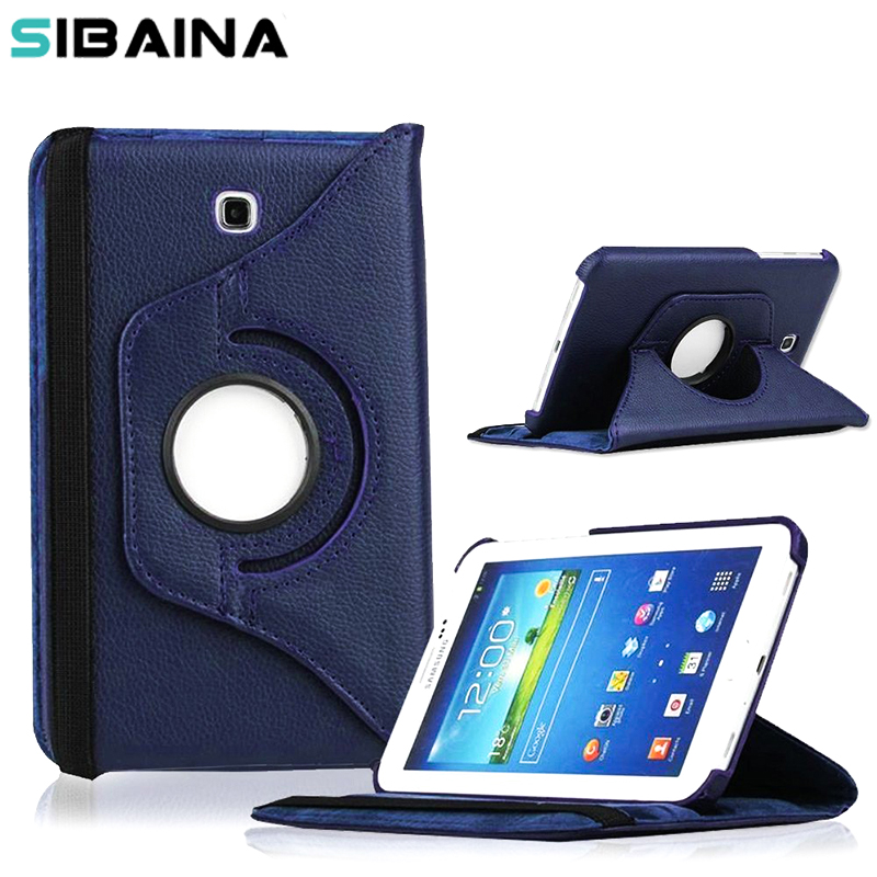 360 Rotating PU Leather case for Samsung Galaxy Tab 3 7.0 inch T210 T211 P3200 P3211  protective Tablet case cover горелка tbi sb 360 blackesg 3 м
