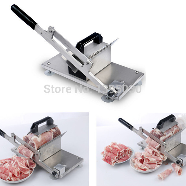 1PC ST-200 Meat Cutting Slicer Mutton Roll Stainless Steel Beef Meat Slicer Cutter With English Manual new conditioner stainless steel 0 17 mm thickness mutton roll slicer machine frozen meat cutting machine price