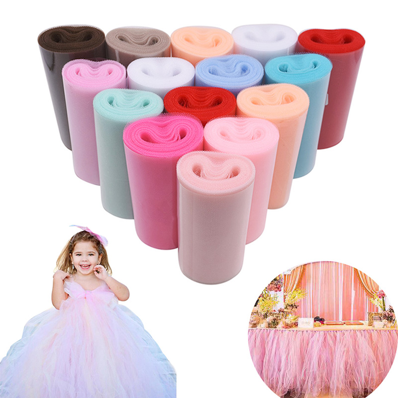 Tulle Roll 15cm 25Yards Roll Fabric Spool Tutu Party Baby Shower Birthday Gift Wrap Wedding Decoration Christmas Event Supplies|Party DIY Decorations| |  - title=