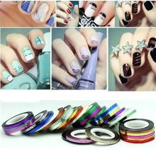 1pc Nail art Kit supplies wholesale gold silver painted wire cable jewelry color solid color Nail Polish stickers