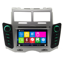 Free Shipping Car DVD player For Toyota Yaris 2005 2006 2007 2008 2009 2010 2011 GPS navigation System Bluetooth Ipod TV Silver