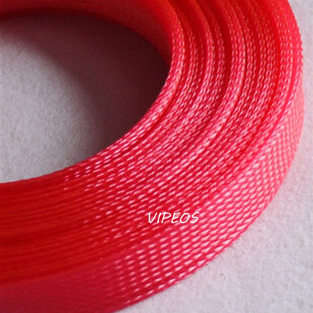 popular braided wire loom buy cheap braided wire loom lots from 3meter braided cable 25 35mm wiring harness loom protection sleeving red for diy