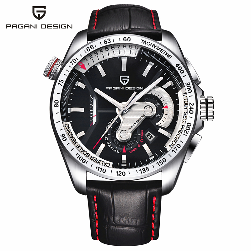2016 Watches Men Luxury Brand Pagani Chronograph Quartz Watch Multifunctional Fashion Men's Sport Clock Hombre Relogio Masculino 2016 relogio masculino watches men luxury brand pagani genuine leather quartz watch multifunctional fashion men s sports clock