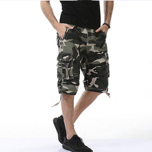 Men's Hot 2017 Fashion Summer Calf-length Shorts Cotton Mens popular Style knee length casual camouflage Overalls shorts Shorts plaid knee length casual mens shorts
